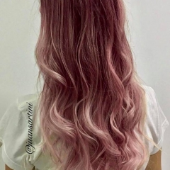 Ombre hair rosè metalic