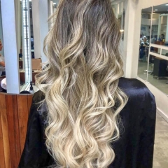 Ombre hair ice cream blond!